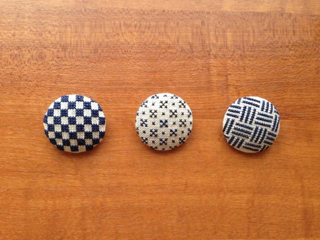 刺繍ミニブローチ  和柄