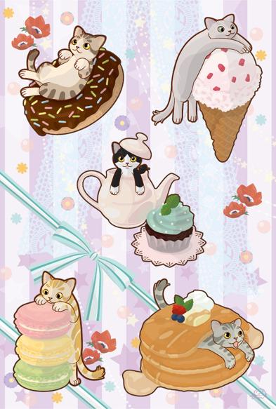 猫のポスカ『おやつぬこ』