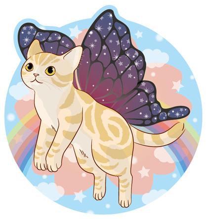猫のポスカ『チョウチョ』