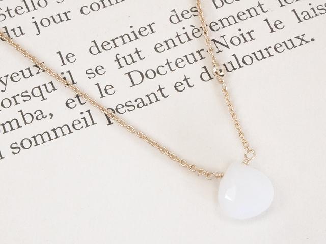 14KGF Moonstone Necklace