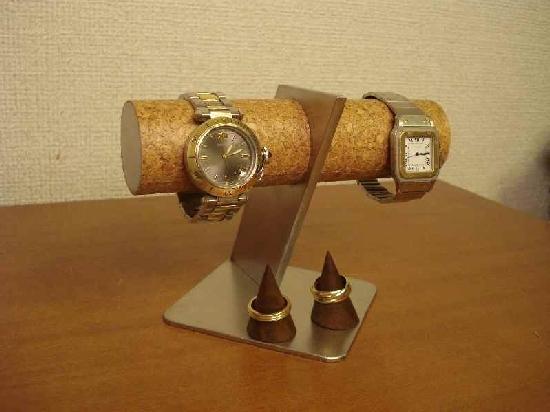 ななめ支柱腕時計スタンド 未固定指輪スタンドバージョン