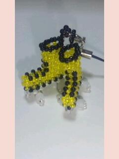 ローラースケートストラップ S (黄色)