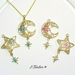Floral*moon&star*ネックレス
