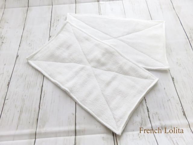 白の手作り雑巾☆フェイスタオル4...