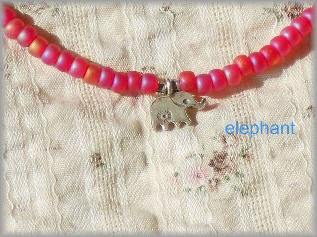 ◆カレンシルバーのぞう◇綺麗なビーズネックレス◇◇◇