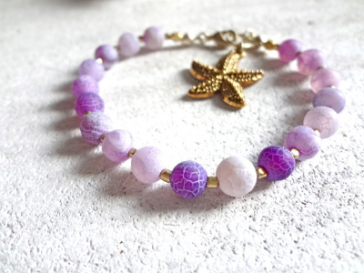purple dragon agate bracelet