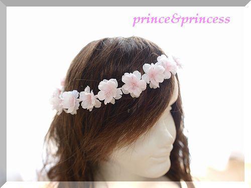 桜の花びら花冠
