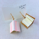 papermoon BOOKピアス -pink lines-
