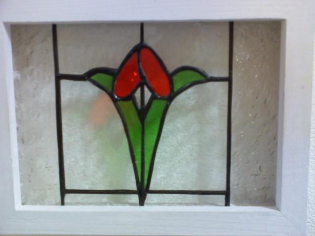 ステンドグラスの壁掛け・hanaS