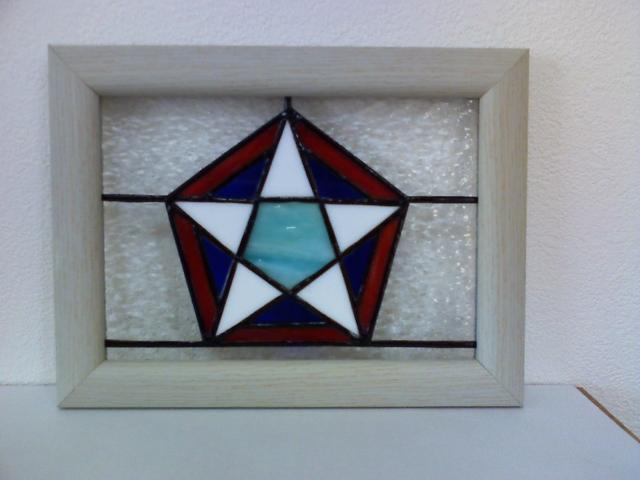 ステンドグラスの壁掛け・マンダラG