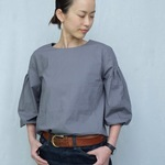 4lines blouse/gray