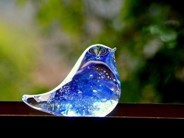ブルーパープルの小鳥 b