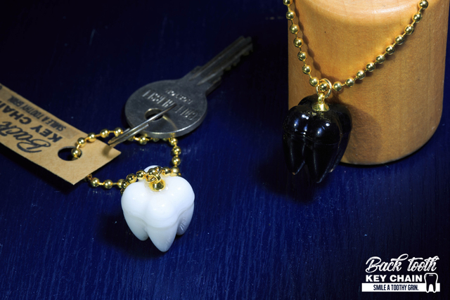 Back Tooth Key Chain