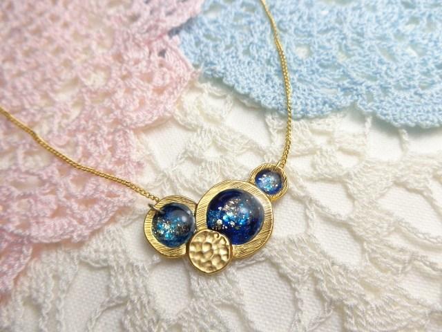 銀河のネックレス「金具の色選択可能!」