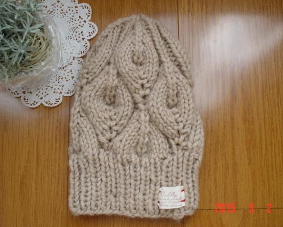 ☆☆彡bonfire(篝火)のknit帽ベージュ色(とんがりタイプ)