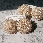 Pearl beads round piece