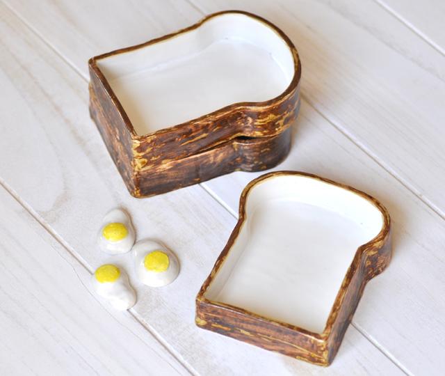 食パンの深皿【PURE-WHITE】(目玉焼き付)