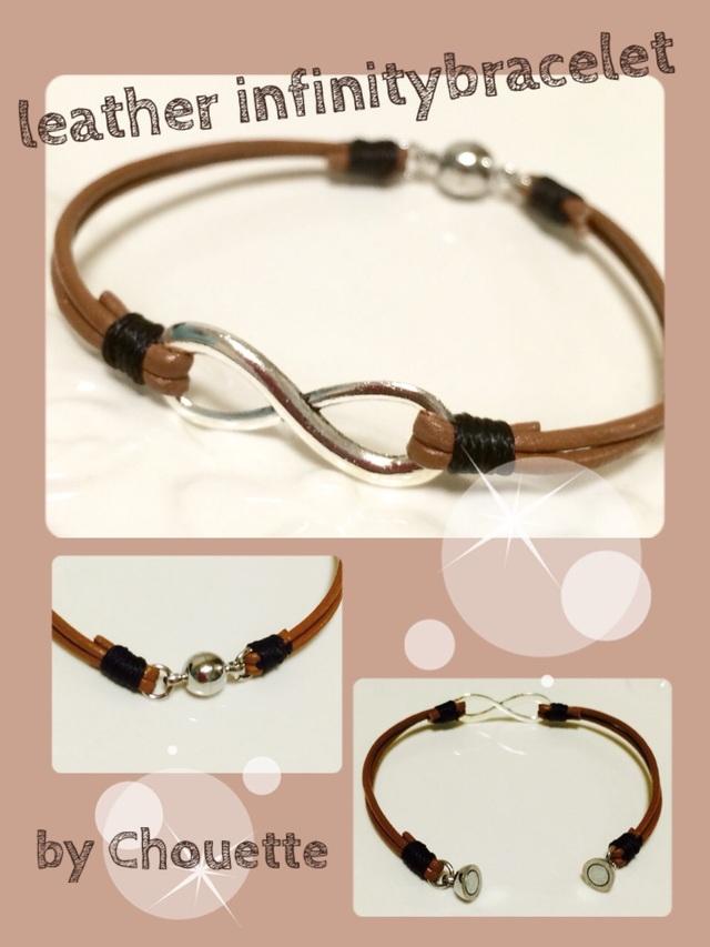 INFINITY ∞ leather bracelet