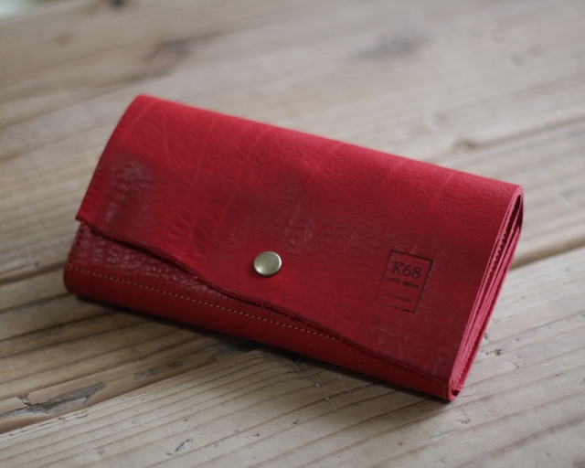 革の長財布 Long WALLET / naturalcut / Red