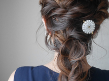 oval lace clip(gold)