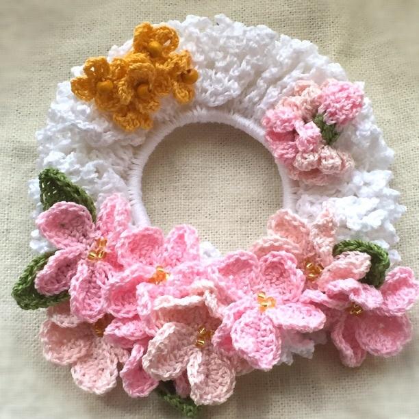 *春色*桜と菜の花シュシュ*