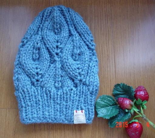 ☆彡bonfire(篝火)のknit帽bluegray色(とんがりタイプ)