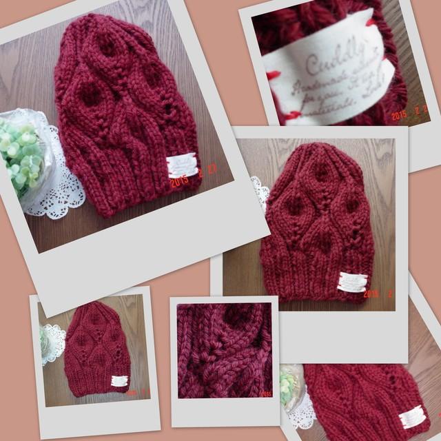 ☆☆彡bonfire(篝火)のknit帽winered色