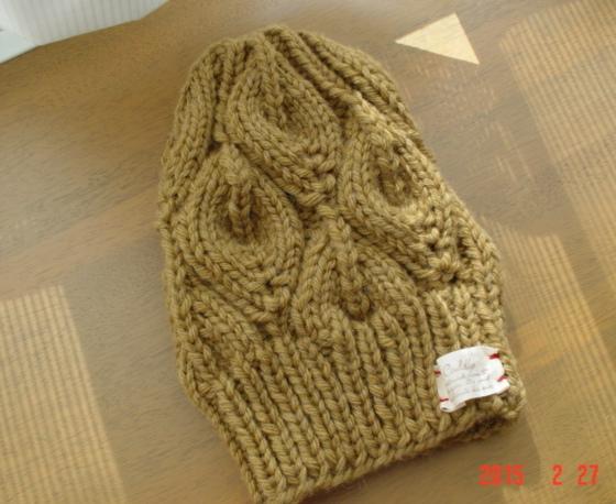 ☆☆彡bonfire(篝火)のknit帽mustard色))