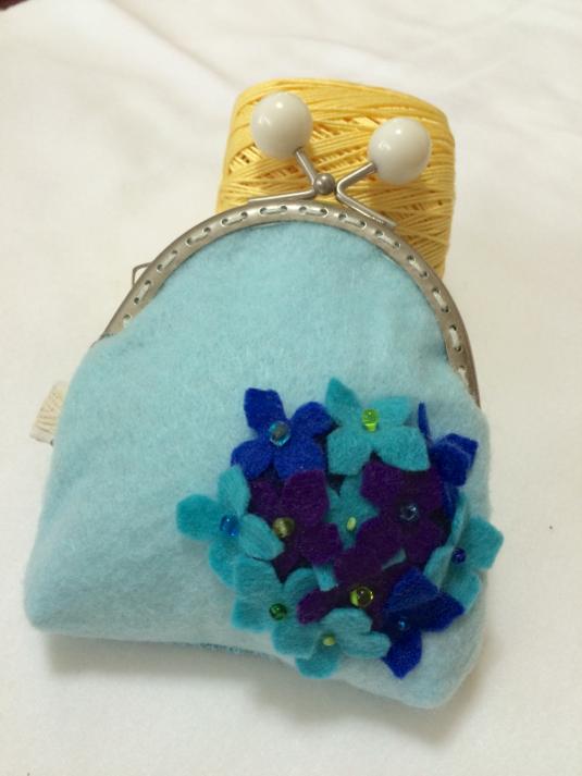 ガマ口財布  紫陽花