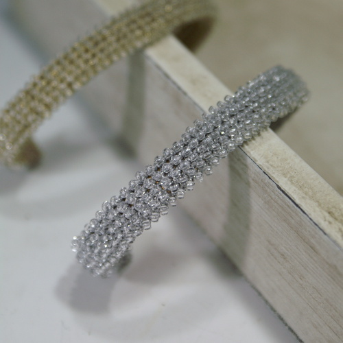 Bead Crochet Bangle Silver�� �ӡ�������å������Х󥰥롡����С�