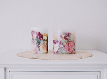 After bouquet Candle 2set