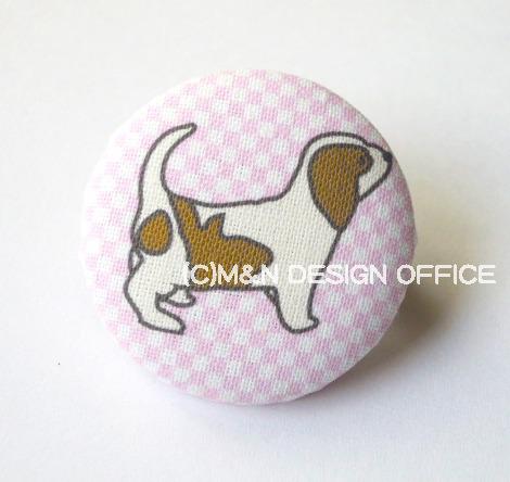 オリジナルイラスト布パッジ/子犬