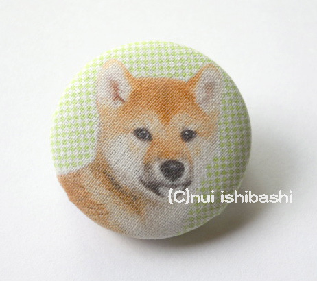 M&Nオリジナル写真布バッジ/柴犬の子犬
