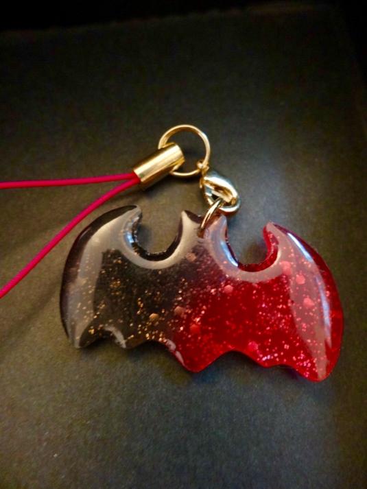 甘い血液ジャムの蝙蝠ストラップ