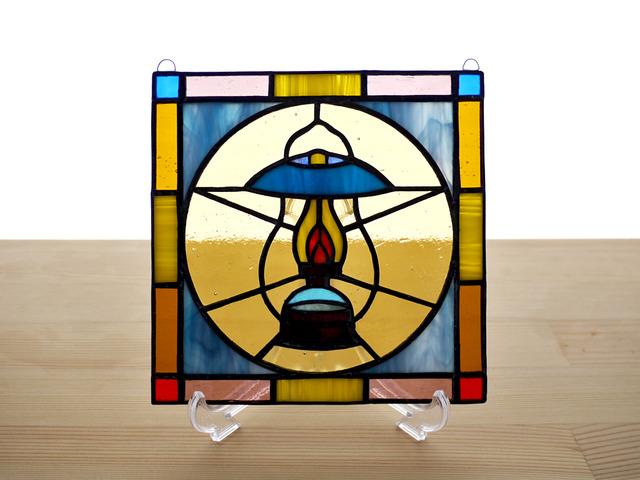 ステンドグラス ミニパネル ランタン 15cm