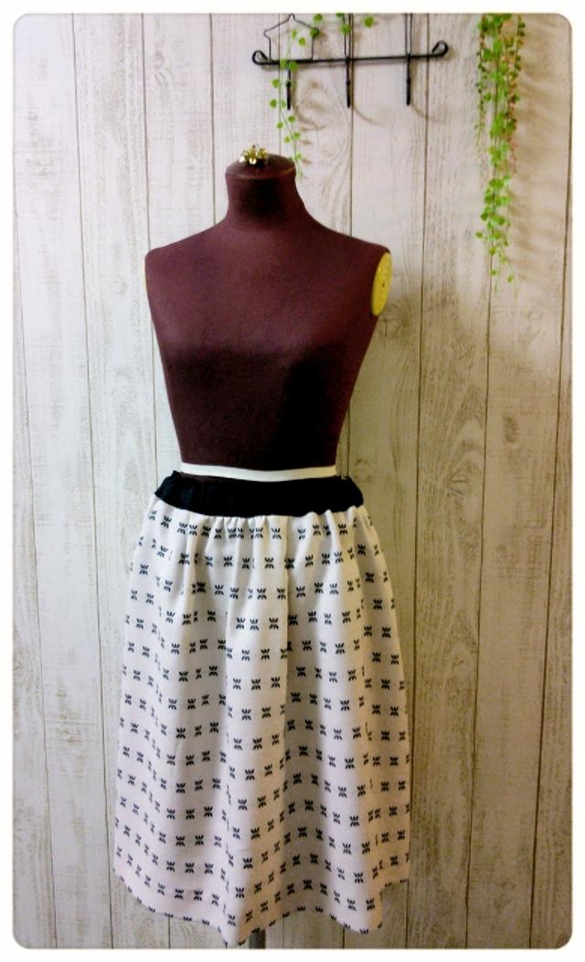☆Sold out☆ ラメジャガードのタック&ギャザースカート
