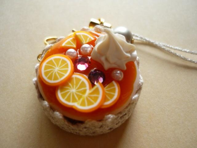 オレンジケーキのストラップ
