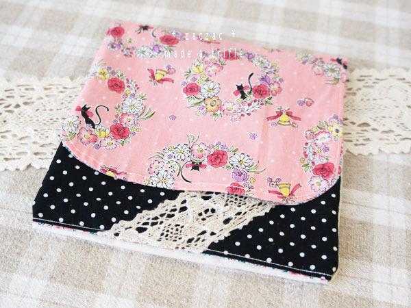 移動ポケット*黒猫とリース/ピンク