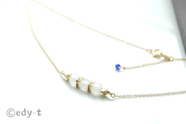 edy-t■ホワイトキューブネックレス☆送料無料