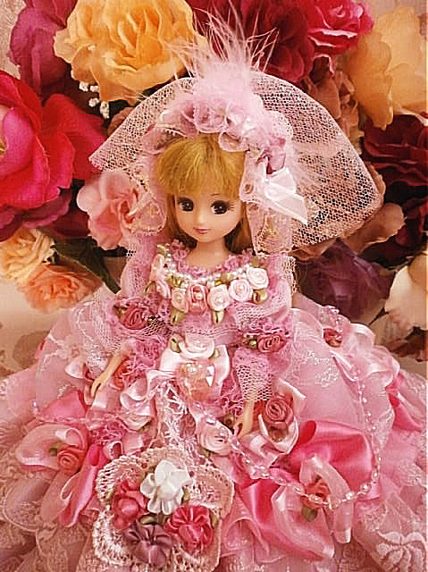 a20f0bc494879 momoo86様 ご予約品 リカちゃん 桜の園 ダブルリボンドレス ...