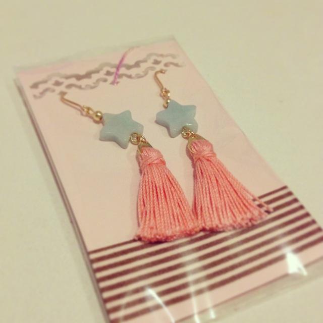 再販 100%cottonタッセル*◆Coral Pink◆*アマゾナイト