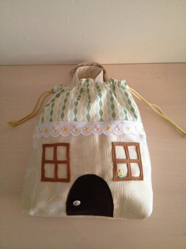 ちょうちょとクローバーのお家バッグ《小さい方》