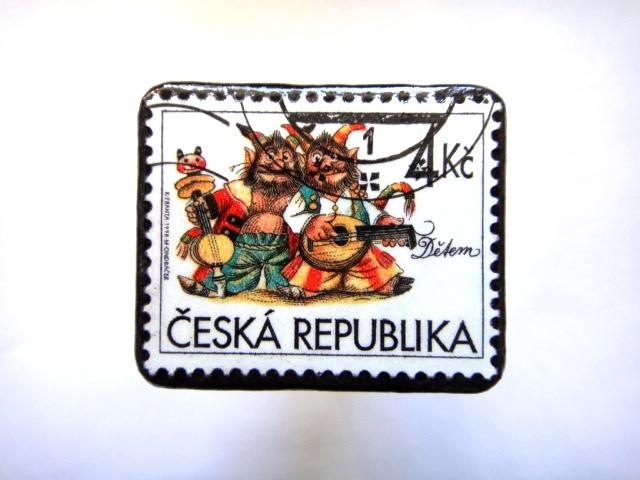チェコ共和国1976年 切手ブローチ796