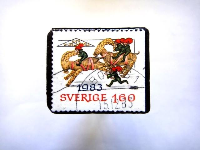 スエーデン1983年 切手ブローチ797