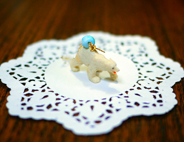 (Sold out)animal片耳ピアス【Polar bear】