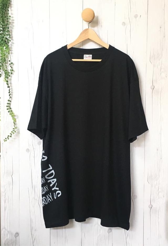 5a11b6a953caf メンズTシャツ/5XL!!着ると可愛い!超ビッグTシャツ(ブラック)/ 大きいサイズ レディース チュニック お出かけ