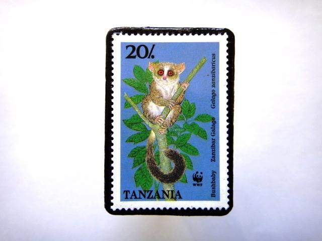 タンザニア1989年 切手ブローチ813