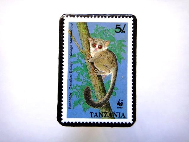 タンザニア1989年 切手ブローチ814