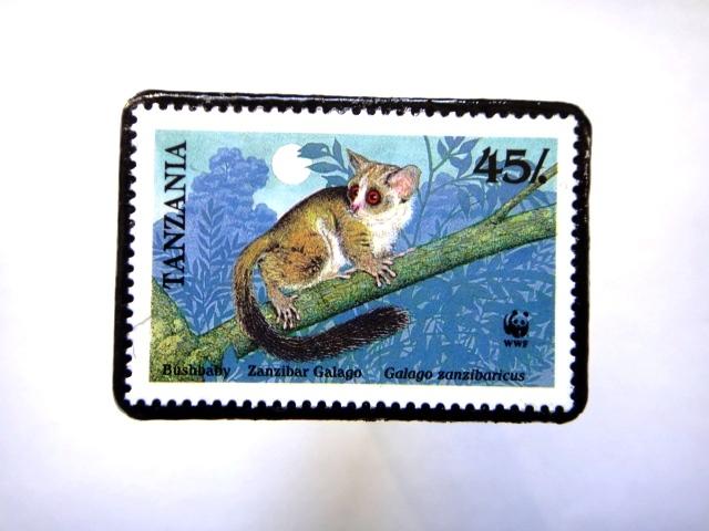 タンザニア1989年 切手ブローチ815