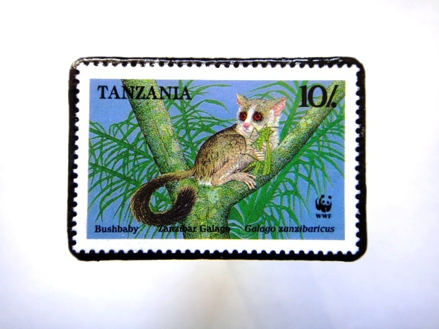 タンザニア1989年 切手ブローチ816